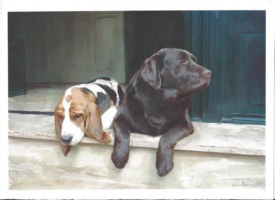 This is perhaps my favorite dog painting from the past five or so years, which is saying rather a lot, since there've been more than a lot of commissioned dog paintings