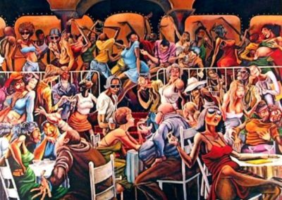 Disco painting by Ernie Barnes