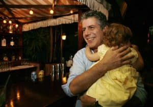 Anthony Bourdain and daughter