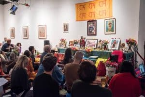 Jon at Tibet House NYC leading chanting Tibet House New Years Day 2017