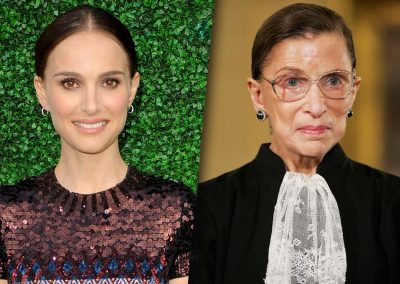 Natalie Portman and RBG side by side as Natalie to play RBG in upcoming film