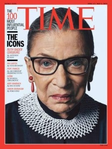 RBG on cover of TIme