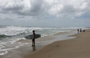 Surfer on Carolina Beach