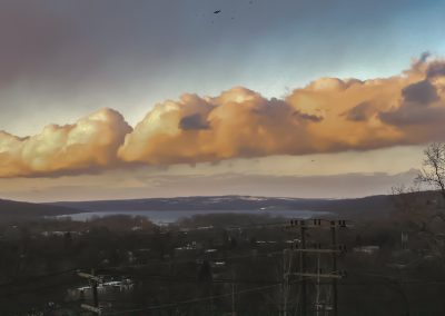 Clouds from South Hill over Cayuga Lake 12-2018
