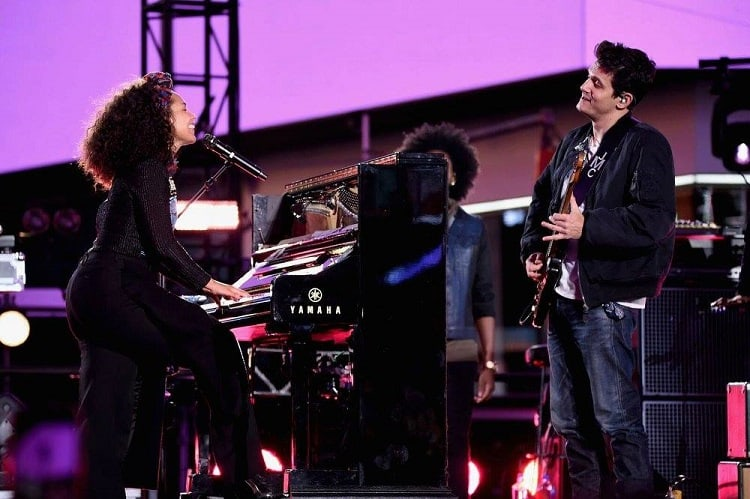 Alicia Keys and John Mayer
