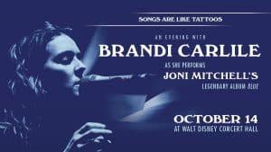 Brandi Carlile performs Joni Mitchell Blue Walt Disney Concert Hall