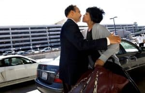 In this November 2009 photo, Phil Freelon drops his Grammy Award nominated wife of 30 years, Nnenna, off at RDU airport as she heads to Italy for a performance. Corey Lowenstein NEWS & OBSERVER FILE PHOTO