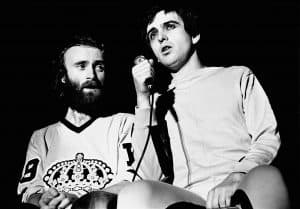 Peter Gabriel and Phil Collins