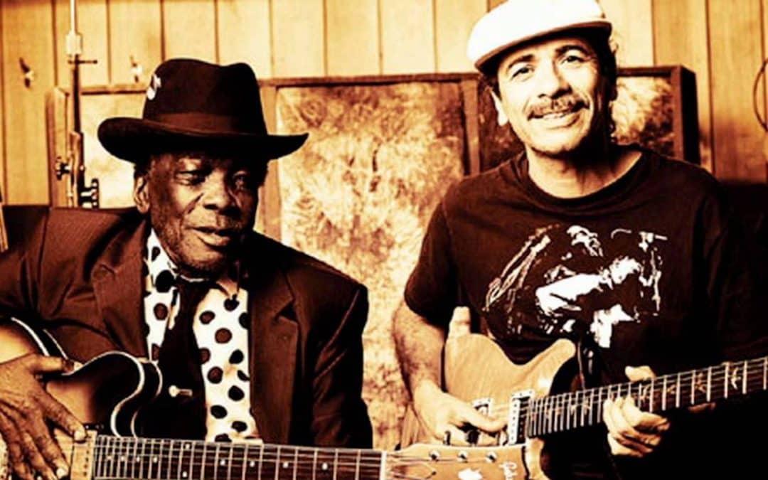 John Lee Hooker and Carlos Santana