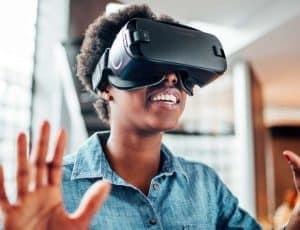 Virtual Reality Computer Science student