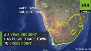 Cape Town Drought Satellite image