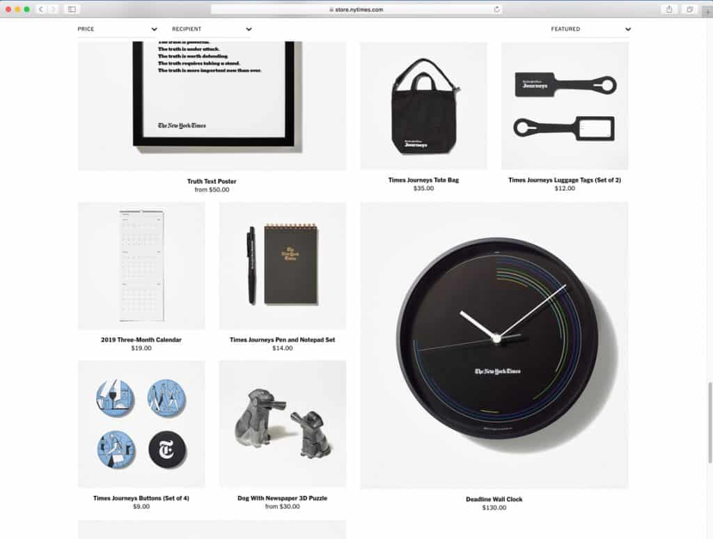 """The New York Times Store """"Deadline Wall Clock""""   Lemnos"""