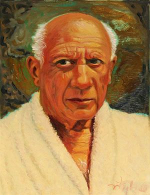 Portrait of Pablo Picasso by Joni Mitchell