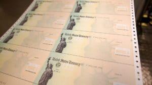US treasury stimulus checks