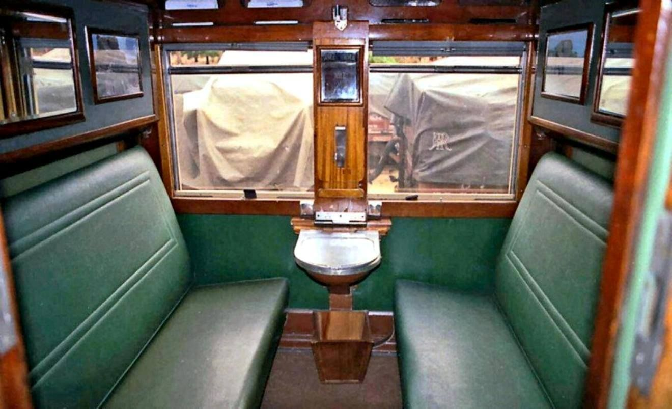 Interior train passenger compartment Rhodesian