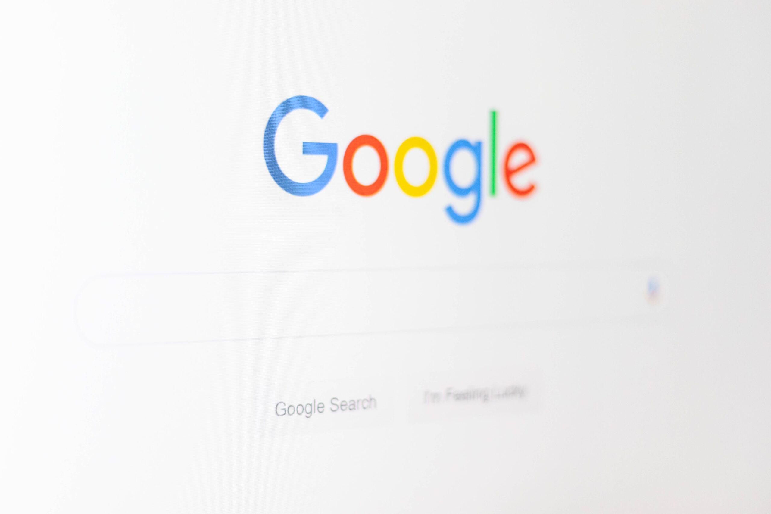 Google search box desktop view