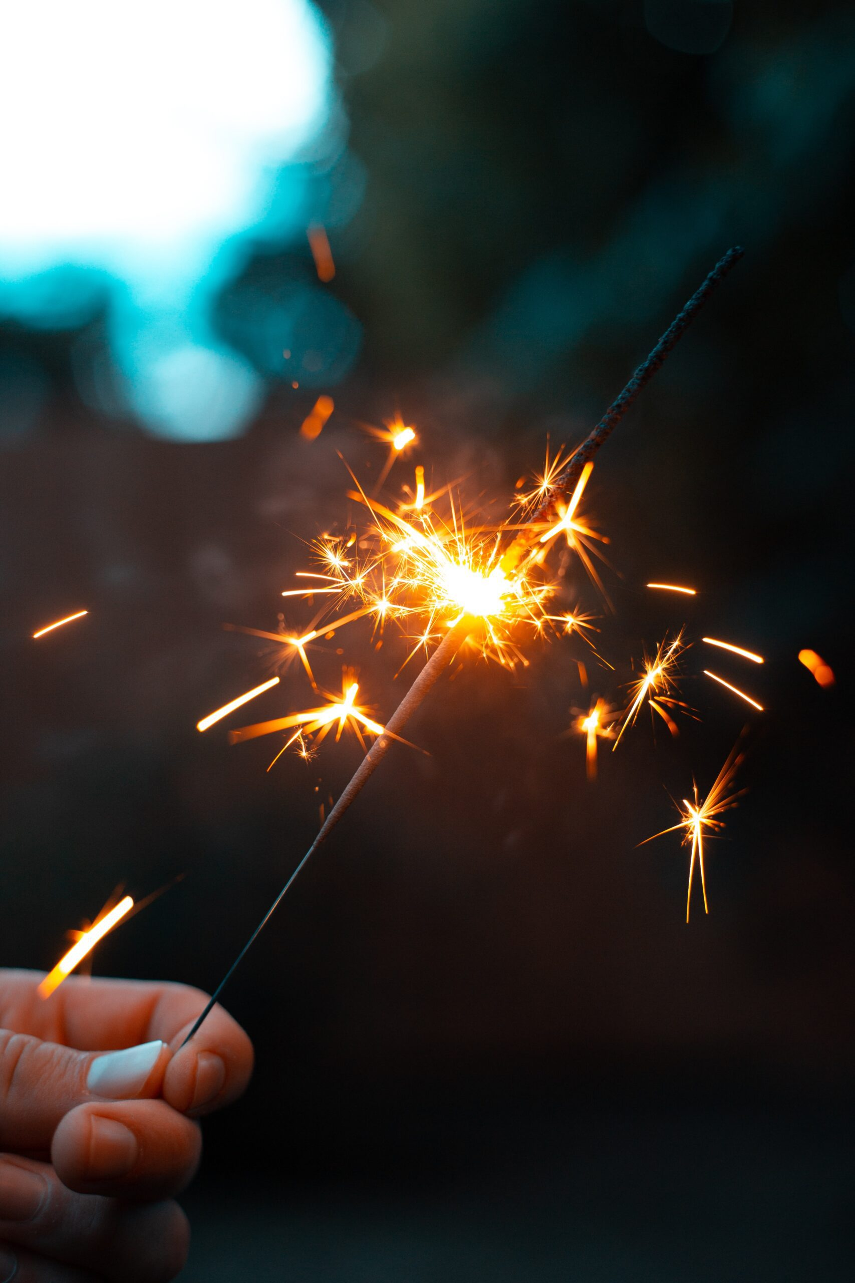 Sparkler burning down from Unsplash