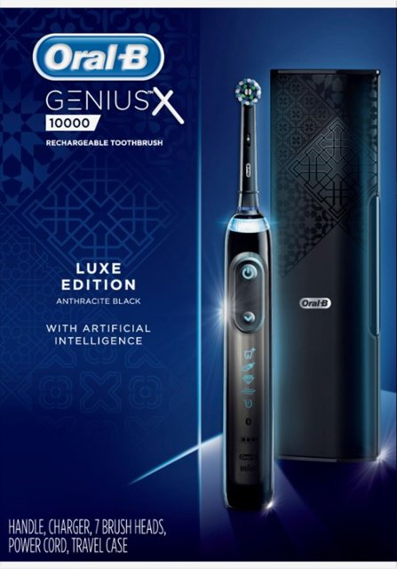Oral B Genius X Luxe electric toothbrush