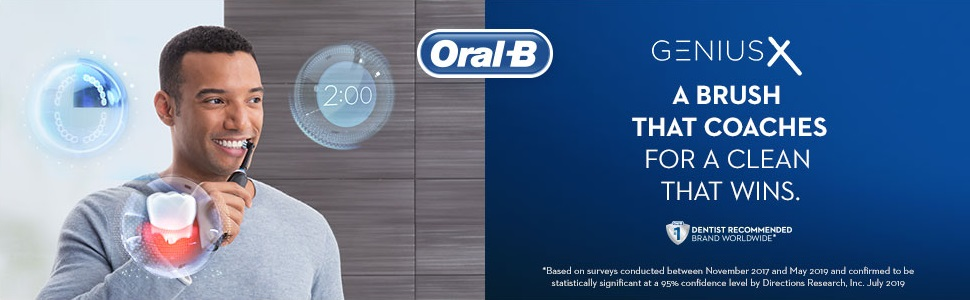 Oral B Genius X slide 1 a brush that coaches for a clean that wins