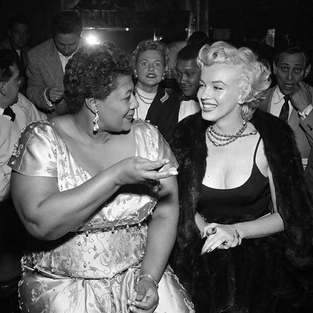 Ella Fitzgerald with Marilyn Monroe