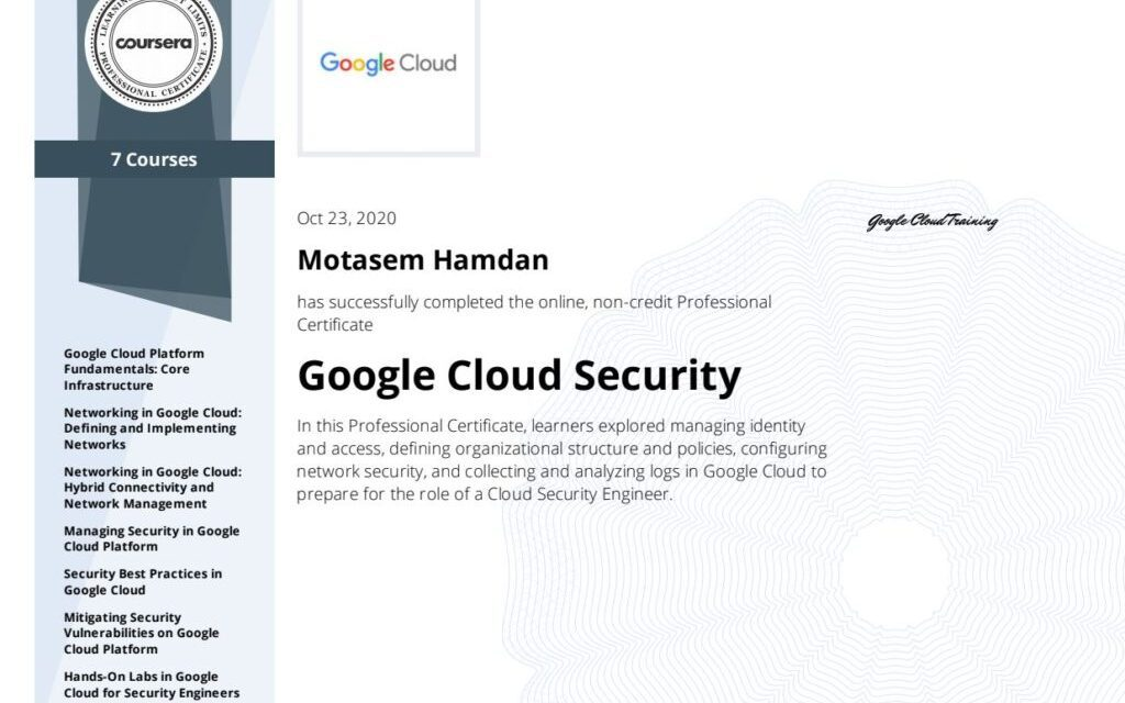 Imagine yourself as a Google cloud Security Professional, now take the first steps to make this a real thang