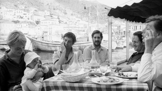 Marriane, Leonard, child and friends