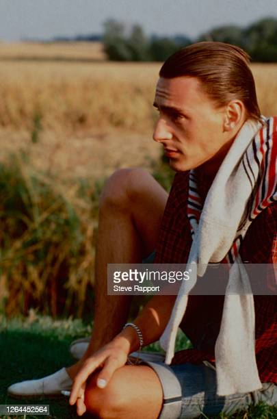 Paul Weller of The Style Council films the 'Long Hot Summer' video, Cambridge, 8/3/83. (Photo by Steve Rapport/Getty Images)