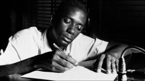 Bobby Timmons composing at desk