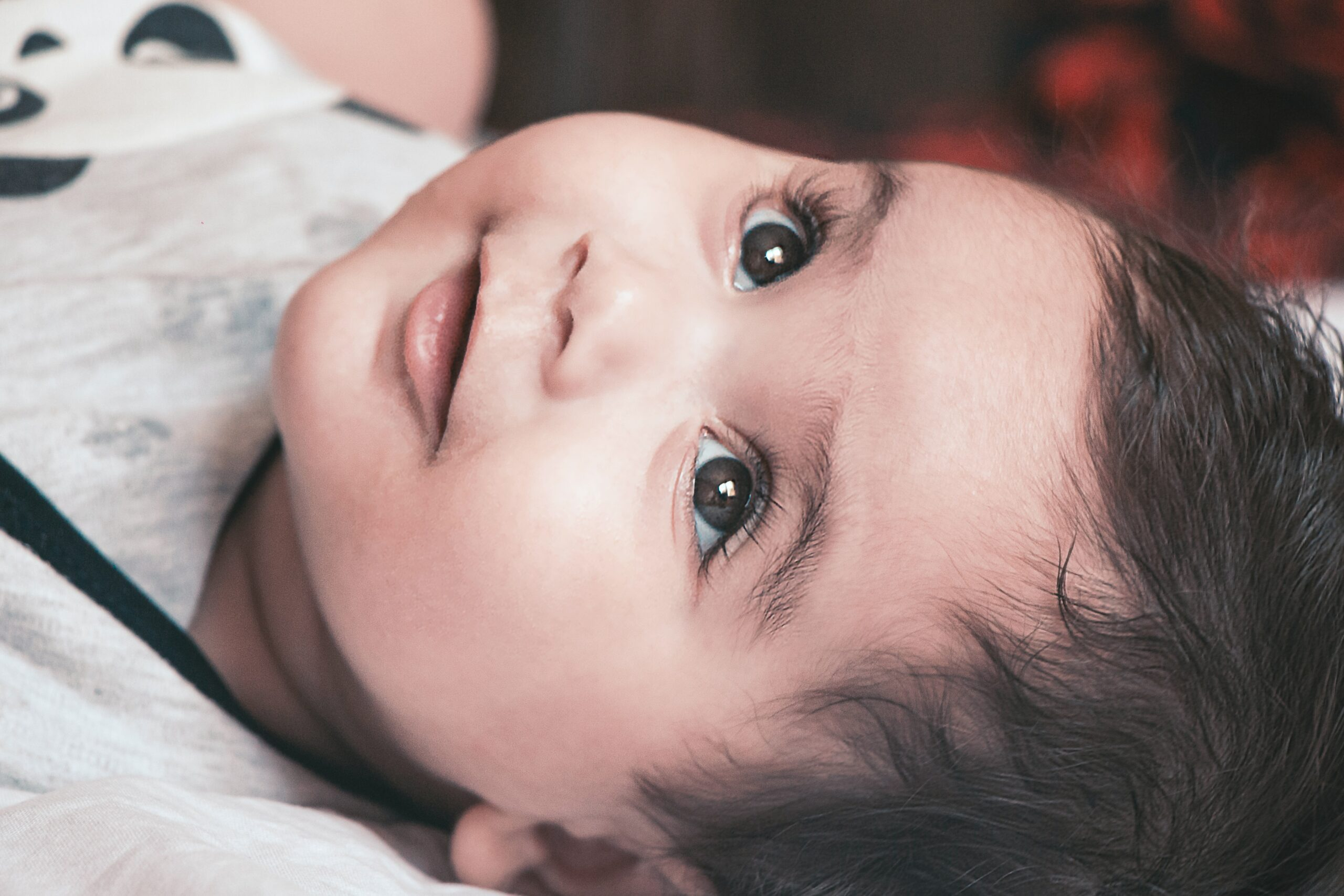 beautiful baby with bright eyes