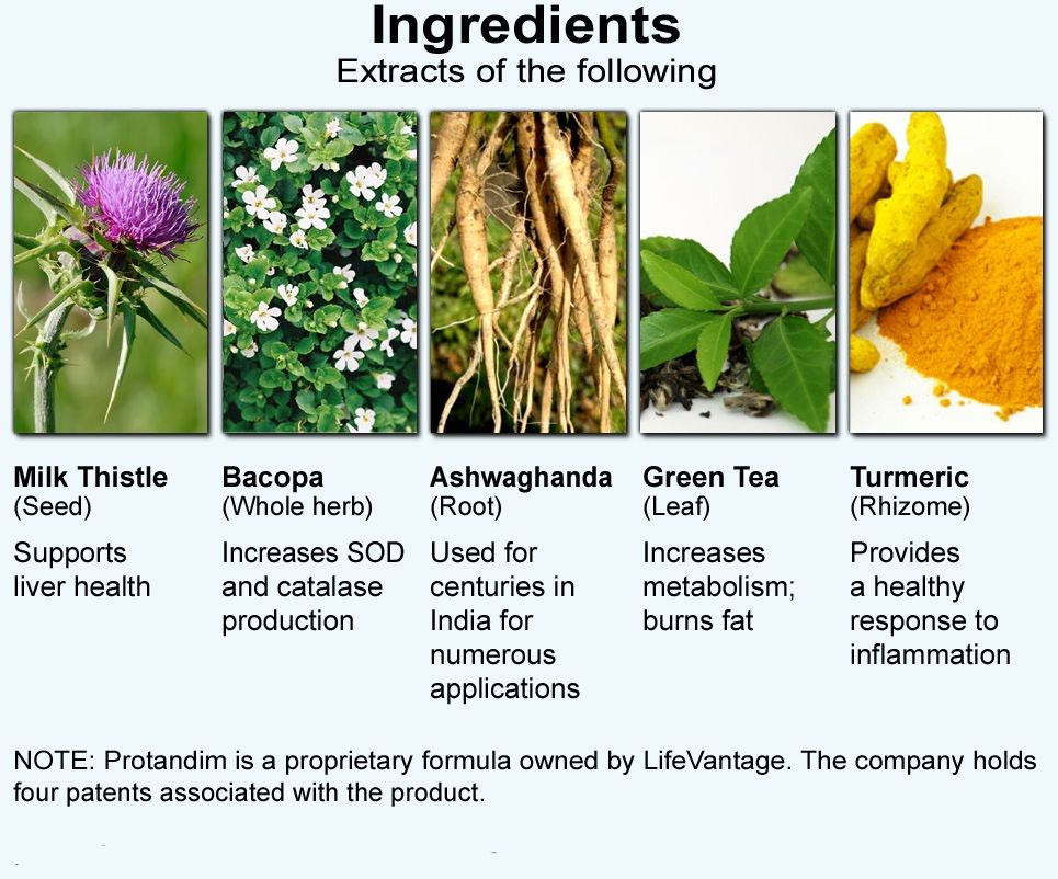 Ingredients extracts of the following protandim