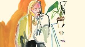 Joni MItchell 1975 Watercolor
