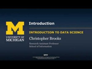 Applied Data Science with Python University of Michigan opening credit scrren on Coursera