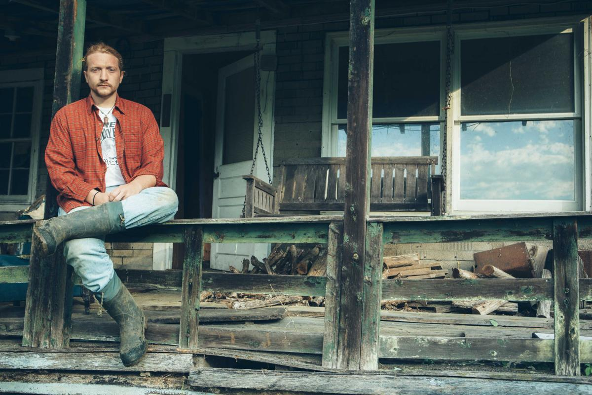 Tyler Childers on Front Porch rail by David McClister
