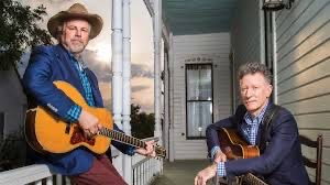 Robert Earl Keen & Lyle Lovett on this old porch