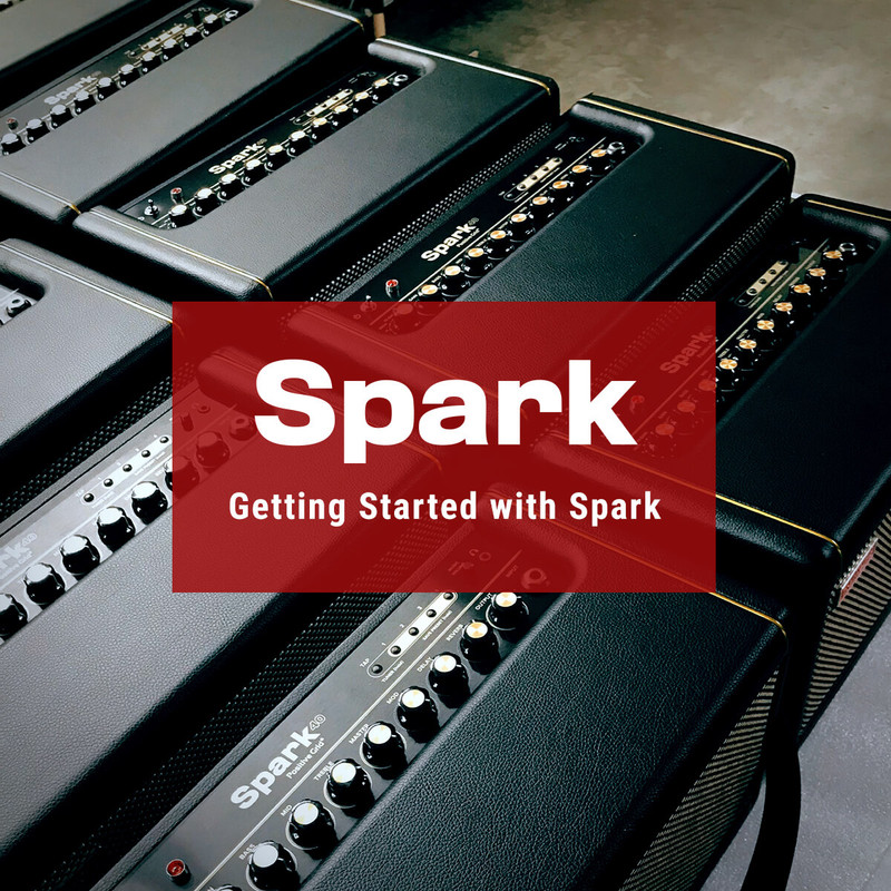 Getting Started with Spark Amp image of multiple Spark Amps back to back