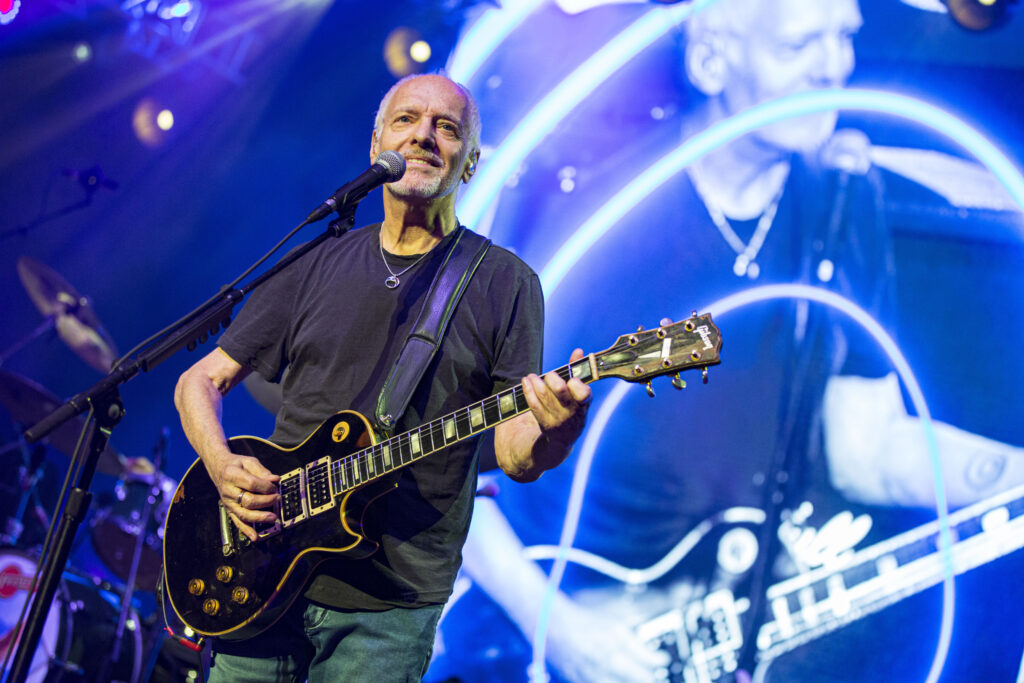 Musician Peter Frampton performs on stage at Cal Coast Credit Union Open Air Theatre on Oct. 2, 2019 in San Diego.