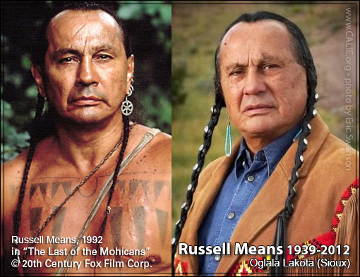 California Indian Education RUSSELL MEANS Oglala Lakota Sioux tribe, Pine Ridge Indian Reservation Picture