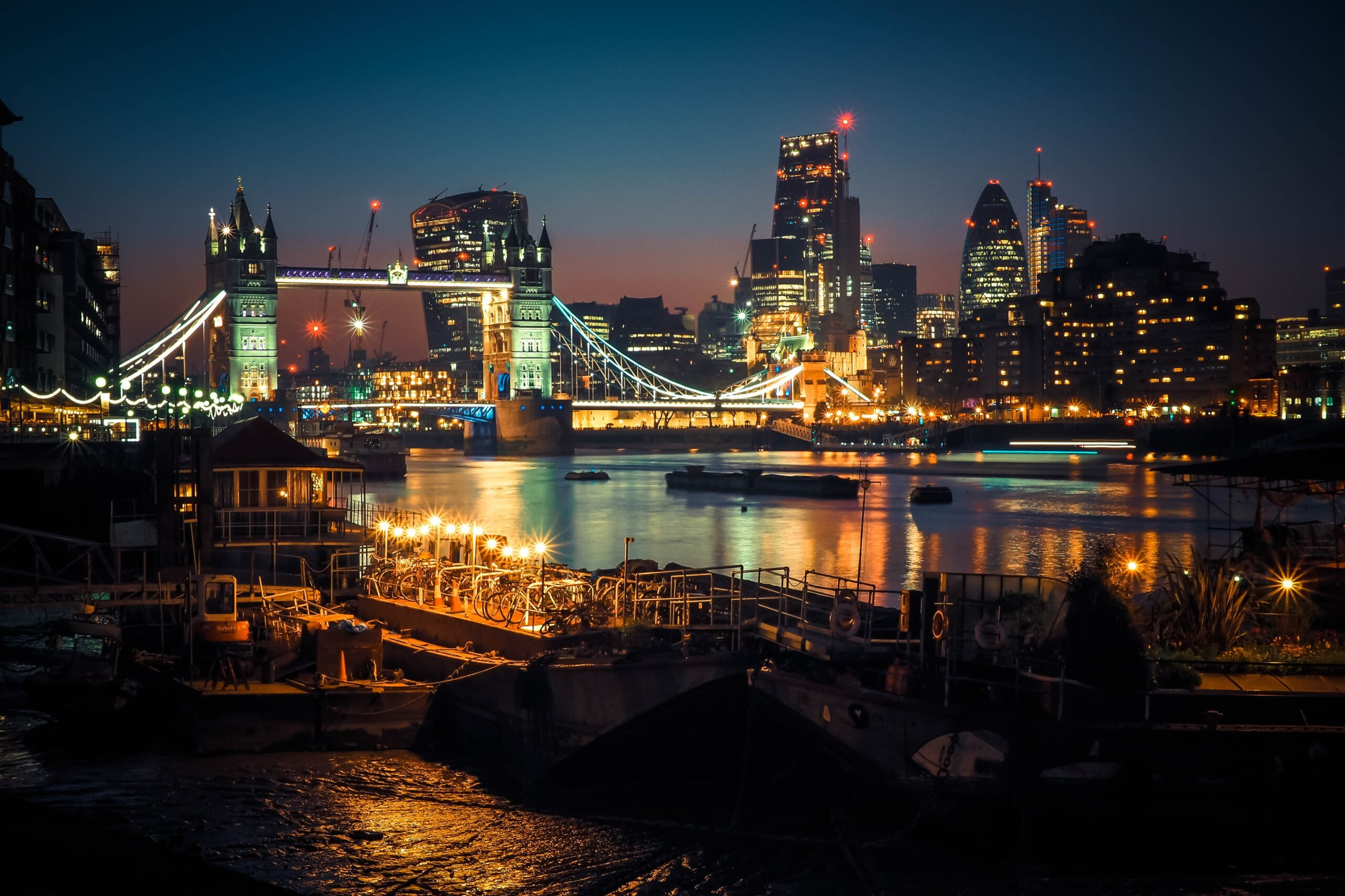 alexander-london-Thames River London Bridge at Night-unsplash