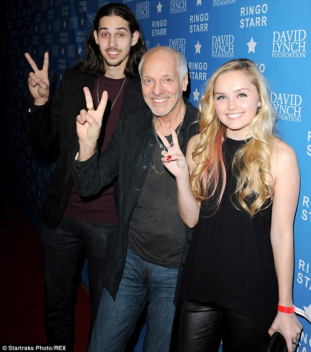 Peter Frampton with son and daughter