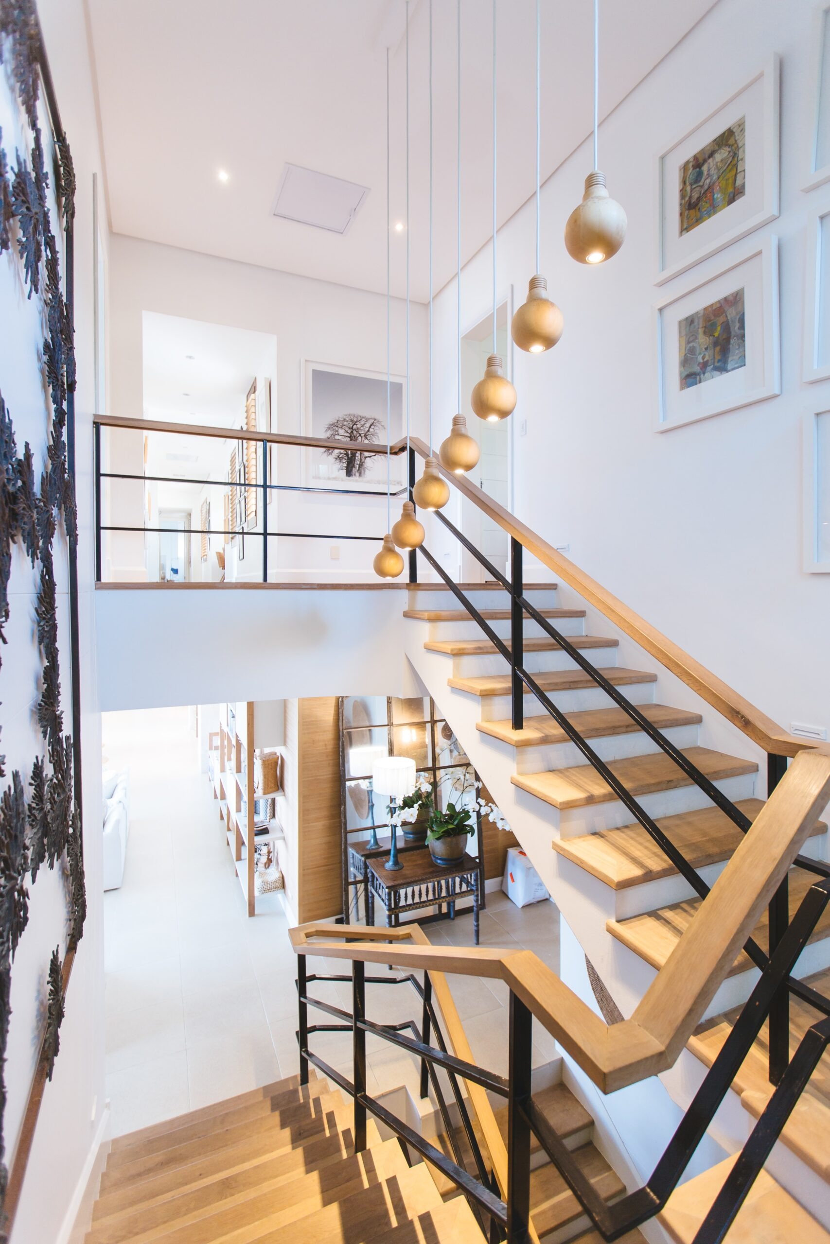 jason-briscoe-Loft view with cascading staircase contemporary home-unsplash