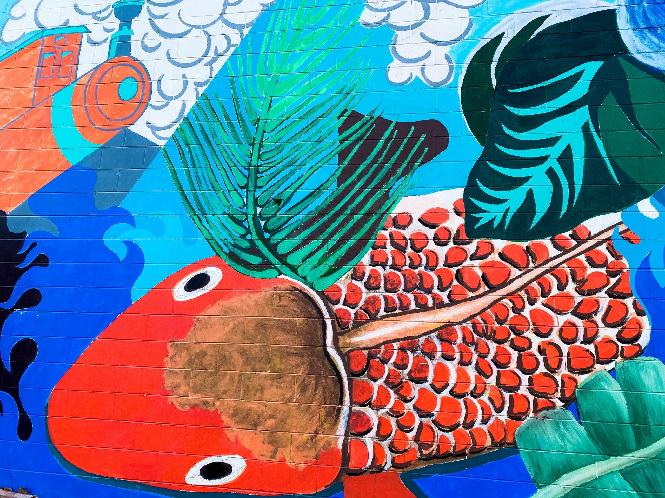 renee-fisher-Koi fish mural-unsplash