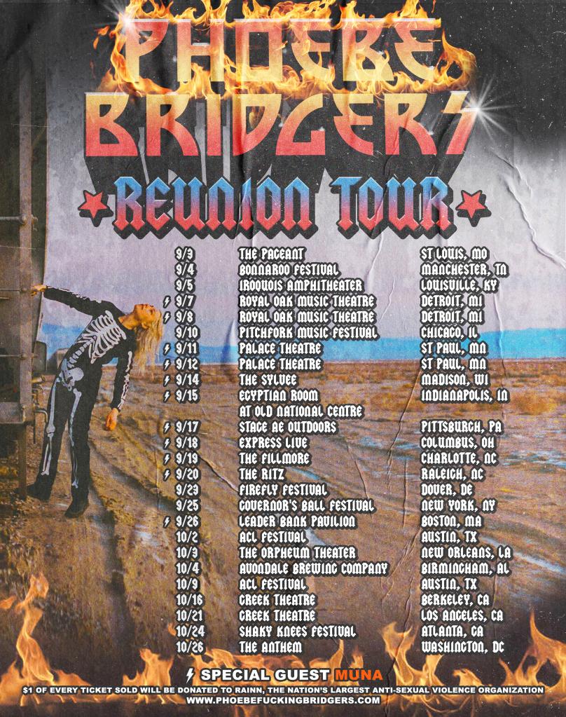 Phoebe Bridger's 2021 tour schedule