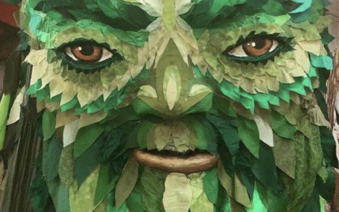 Paperhand Green Man Mask