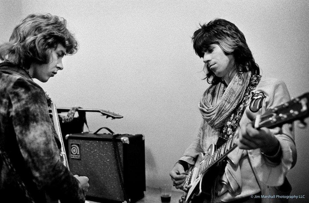 Keith Richards and Mick Taylor