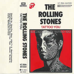Rolling Stones Tattoo You Cassette cover