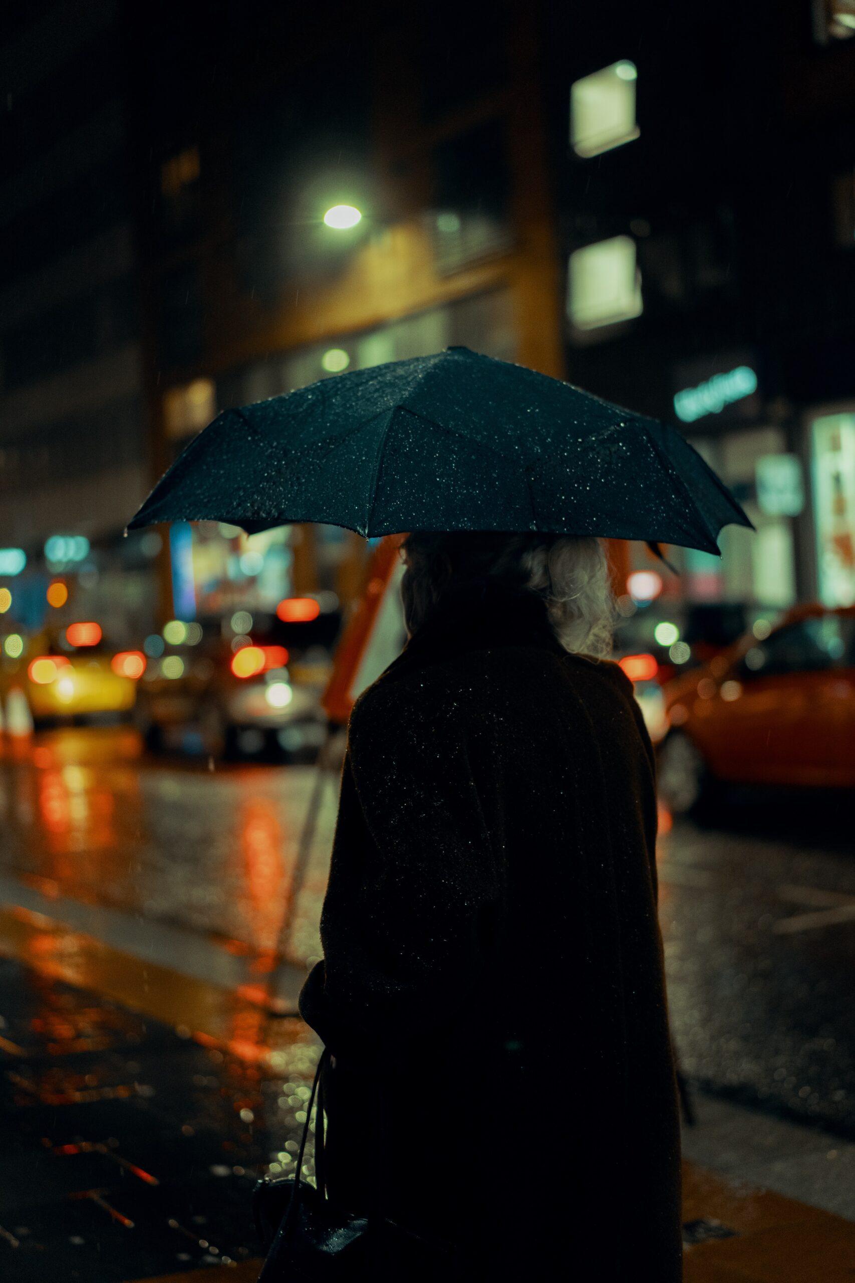 ross-sneddon-man with black umbrella in the rain NYC-unsplash (1)